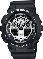 Casio G-Shock Black and White Series GA-100BW-1A