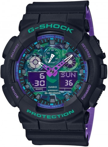 Casio G-Shock Special Color Blue Purple GA-100BL-1A