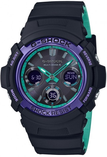 Casio G-Shock Special Color Blue & Purple AWG-M100SBL-1A